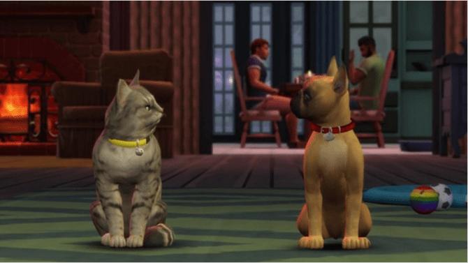 Кошки и собаки Симс 4