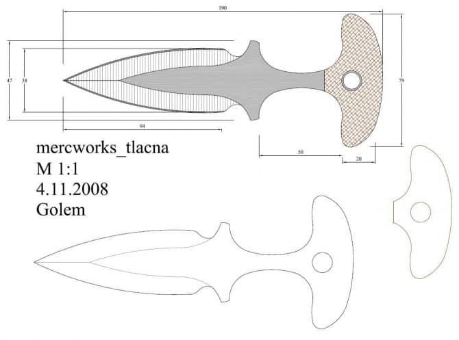 чертеж тычковых ножей кс го