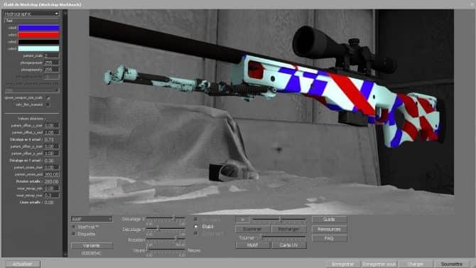 AWP - Blue&Red Lines для CS:GO