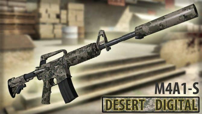 M4A1-S Desert Digital для CS:GO