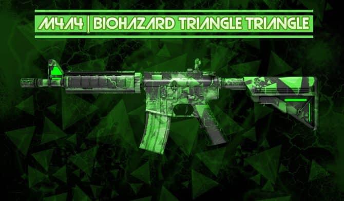 M4A4 - Biohazard Triangle для CS:GO