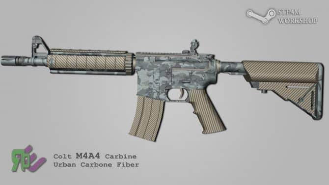 M4A4 - Urban Carbonfiber для CS:GO