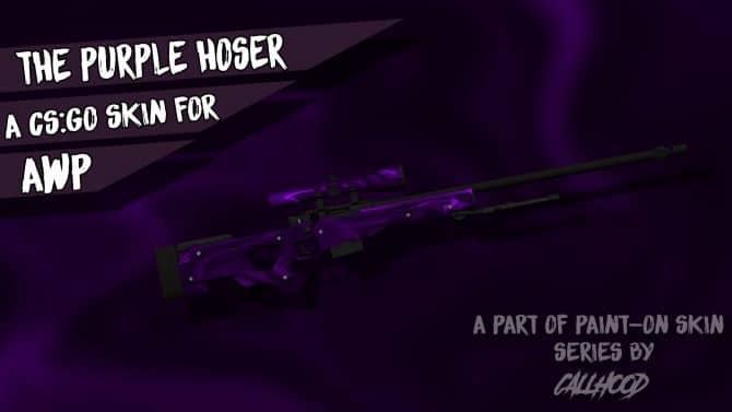 The Purple Hoser-AWP Skin для CS:GO