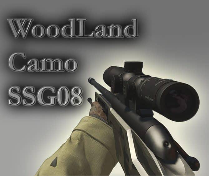 Woodland Camo ssg08 для CS:GO