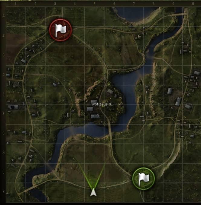 Комарин карта WoT 1