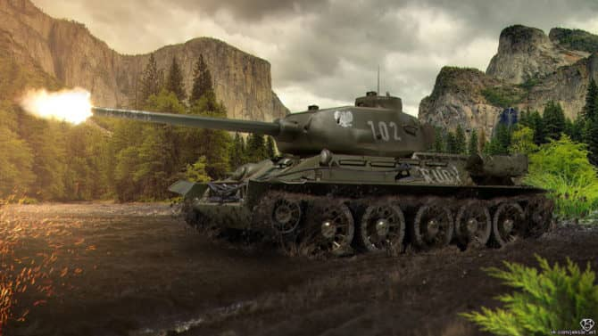 Т-34-85 WOT