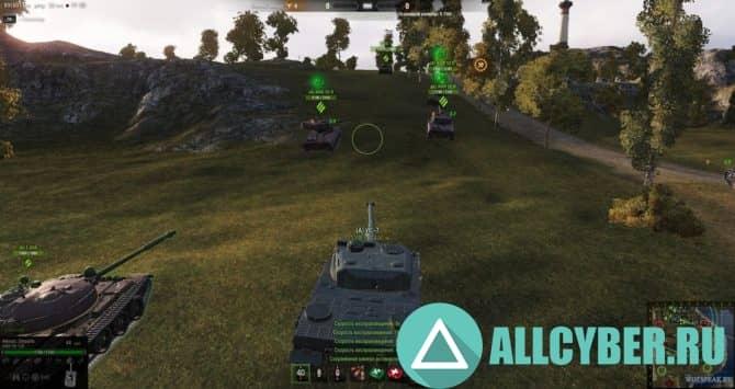 Таймер перезарядки для world of tanks