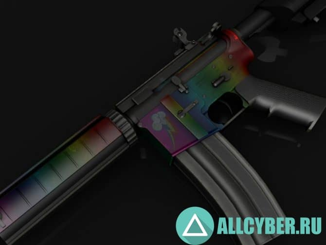 Оружие M4A1 - Rainbow Dash для CS:GO