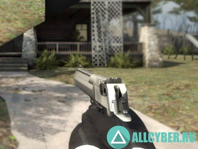 Оружие Deagle - Clean Chrome для CS:GO