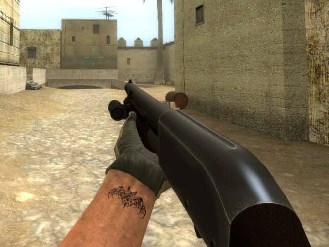 Модель оружия Remington 870 для CS:S