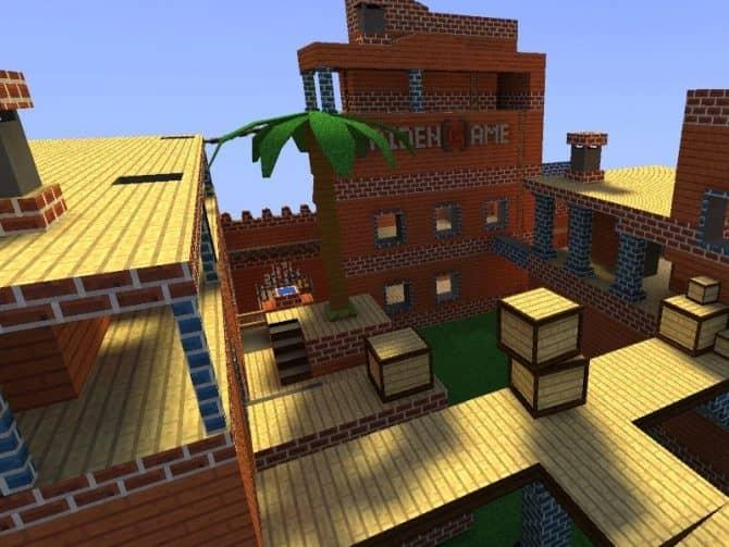 Карта aim_ag_minecraft_city_fix для CS:S