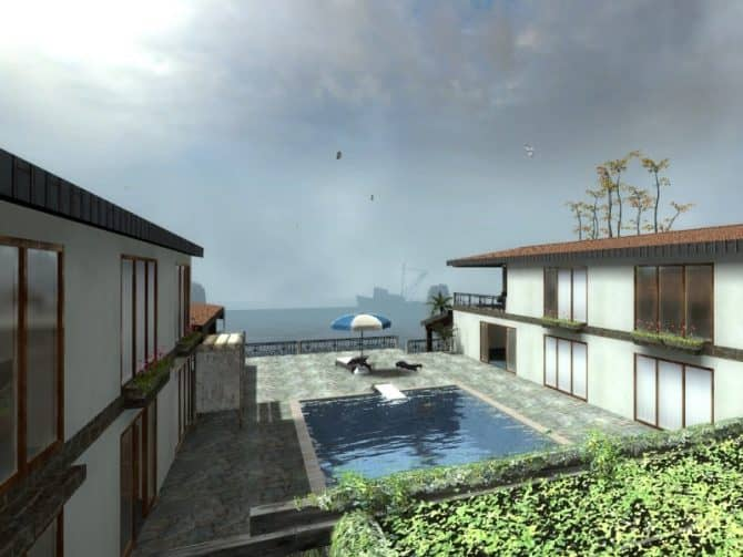 Карта de_orilla_house для CS:S