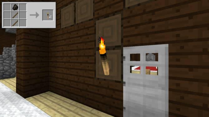 Как сделать факел в minecraft